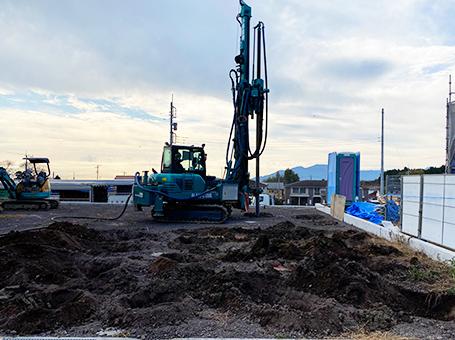 徹底的な地盤調査と改良工事