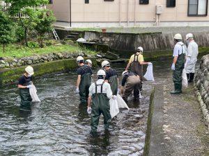 川のお掃除:大森