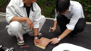 スタッフの木工教室:新井