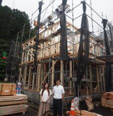 祝富士宮市M様邸新築工事上棟:秋山