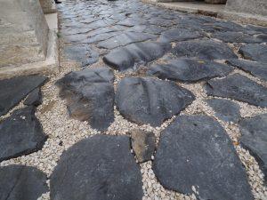 ローマ時代の石畳