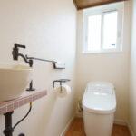 ナチュラルカフェ風の家トイレ