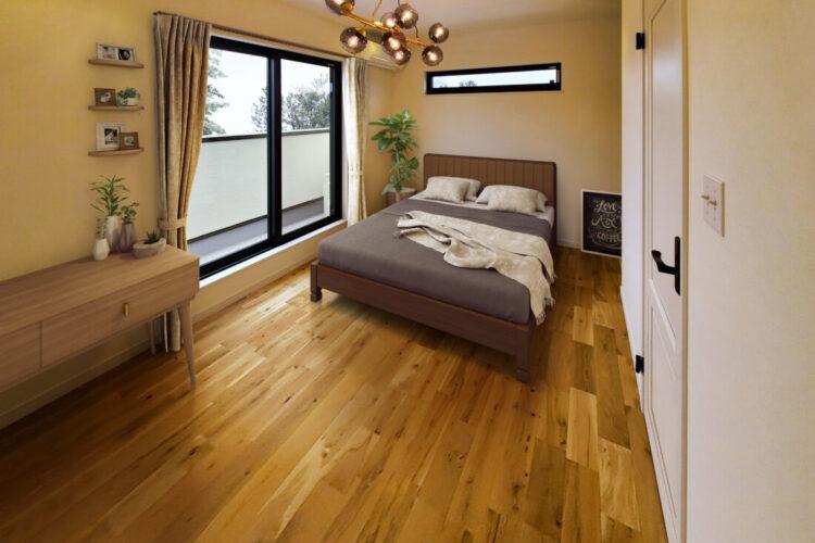 ナチュラルカフェ風の家寝室